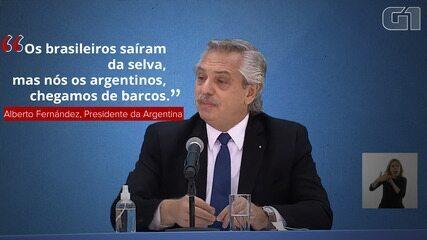 Il presidente dell'Argentina dice che i brasiliani