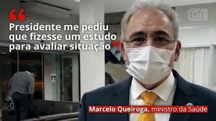 Queiroga sobre máscara: 'Presidente me pediu que fizesse um estudo para avaliar situação'