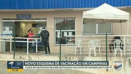 Vacina contra Covid-19 passa a ser aplicada em Centros de Saúde em Campinas