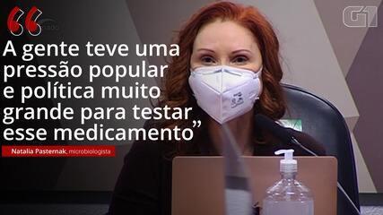 VÍDEO: 'A gente teve uma pressão popular e política muito grande para testar esse medicamento', diz Natalia Pasternak sobre cloroquina
