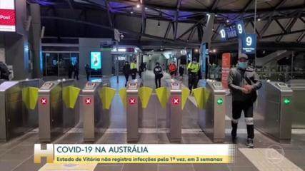 El estado de Victoria en Australia no registró ningún caso gubernamental a través de la transmisión local este viernes.
