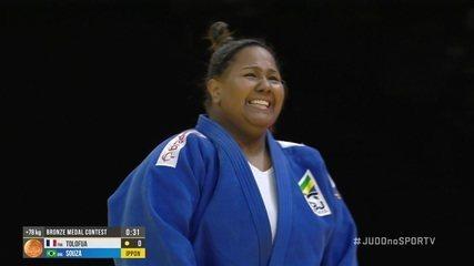 Beatriz Souza conquista a medalha de bronze no Mundial de Judô