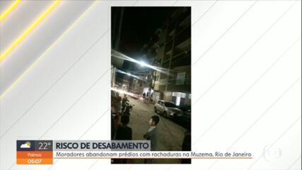 Moradores abandonam prédios com rachaduras na Zona Oeste do Rio