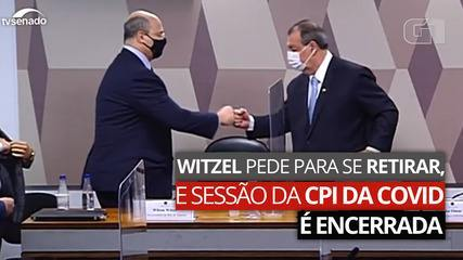 VÍDEO: Witzel pede para se retirar, e sessão da CPI da Covid é encerrada