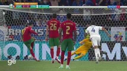 Aos 14 min do 2º tempo - gol de pênalti de Cristiano Ronaldo de Portugal contra a França