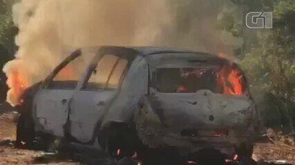 Corpo é encontrado dentro de carro carbonizado na Zona Sul