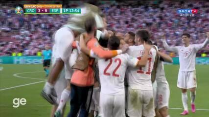 Os gols de Croácia 3 x 5 Espanha pelas oitavas de final da Eurocopa