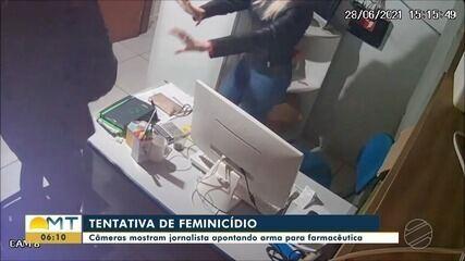 Novas imagens mostram vítima engatinhando e pedindo socorro após ser baleada por ex