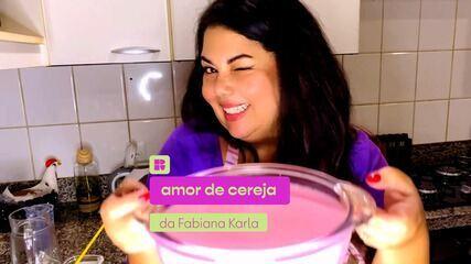 Fabiana Karla ensina a fazer uma receita com gelatina