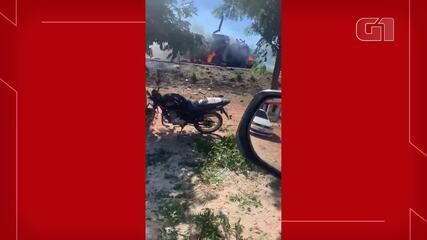Criminosos explodem carro-forte no interior do Ceará