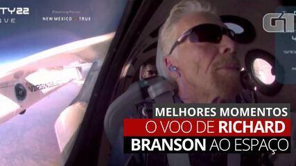 VÍDEO: Veja os melhores momentos do voo de Richard Branson ao espaço