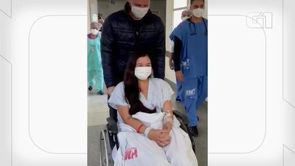 VÍDEO: Vitória Zuppo, de 24 anos, recebeu alta da UTI e foi para quarto em hospital de BH