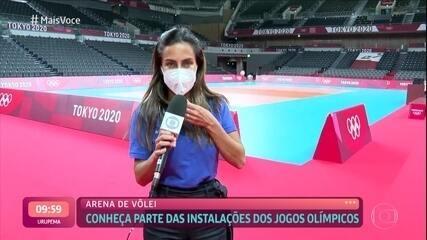 Carol Barcellos mostra a arena de vôlei das Olimpíadas de Tóquio