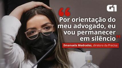 VÍDEO: 'Por orientação do meu advogado, eu vou permanecer em silêncio', diz Emanuela Medrades