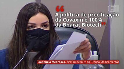 VÍDEO: 'A política de precificação da Covaxin é 100% da Bharat Biotech', diz Emanuela Medrades
