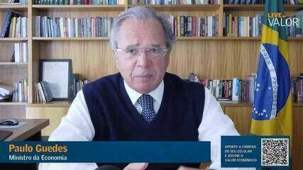 Guedes diz que gostaria de baixar tarifas de importação, mas destaca amarras no Mercosul