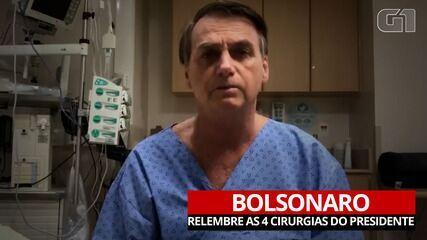 VÍDEO: as quatro cirurgias que Jair Bolsonaro fez desde 2018