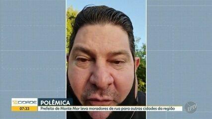 Prefeito de Monte Mor faz live para explicar transferência de moradores de rua