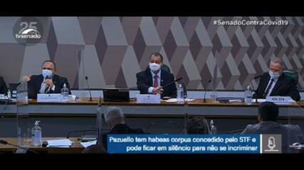 VÍDEO: em depoimento à CPI, Pazuello afirma: 'Quem negocia com empresa é o nível administrativo, não o ministro. O ministro jamais deve receber uma empresa'