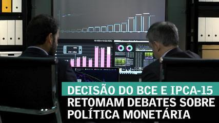 Decisão do BCE e IPCA-15 retomam debates sobre política monetária