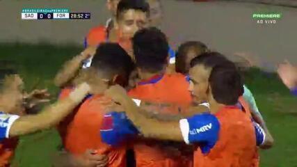 O gol de São Paulo 0 x 1 Fortaleza, pela 12ª rodada do Brasileirão
