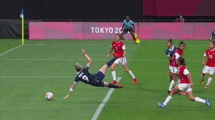 Os gols de Grã-Bretanha 2 x 0 Chile pelo Futebol Feminino nas Olimpíadas de Tóquio 2020