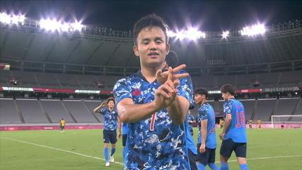 O gol de Japão 1 x 0 África do Sul pelo Futebol Masculino nas Olimpíadas de Tóquio 2020
