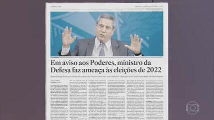 Autoridades reagem a recado que teria sido enviado de Braga Netto a Lira sobre voto impresso