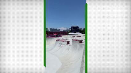 Favorito no skate, Nyjah Huston filma passeio pela pista de Tóquio 2020