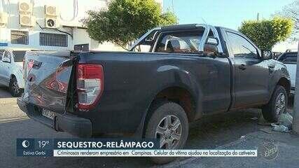 Empresário de SP vítima de sequestro é libertado em Campinas; dois são presos