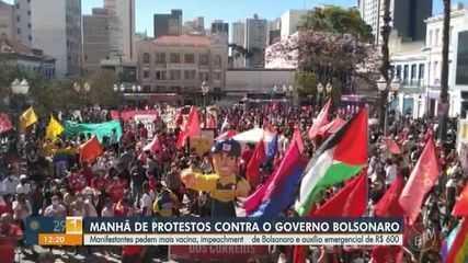 Manifestantes protestam contra governo Bolsonaro nas regiões de Campinas e Piracicaba