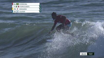 Melhores Momentos: Ítalo Ferreira vence a primeira bateria do Surfe