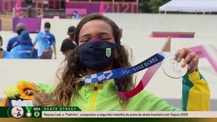 """Rayssa Leal, a """"fadinha"""", comemora prata no skate nas Olimpíadas de Tóquio 2020 e diz: """"Não desista dos seus sonhos"""""""