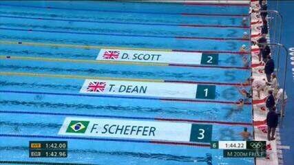 Olimpíadas: Fernando Scheffer conquista bronze na natação