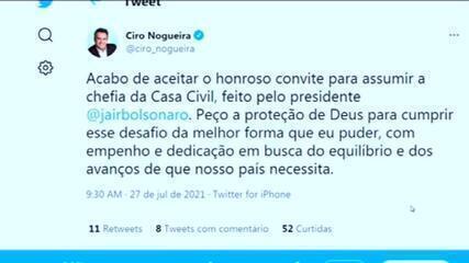 VÍDEO: Ciro Nogueira aceita convite para assumir a chefia da Casa Civil