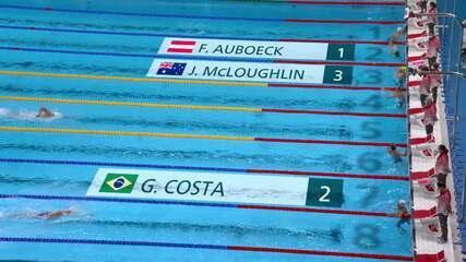 Guilherme Costa termina em segundo lugar e se classifica para final nos 800m livre