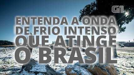 VÍDEO: Entenda a onda de frio intenso que atinge o Brasil