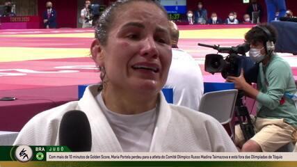 Maria Portela chora muito e pede desculpas aos que acreditaram nela após ser eliminada