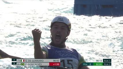 Pedro Gonçalves faz a segunda descida no k1 da canoagem slalom com 92.91