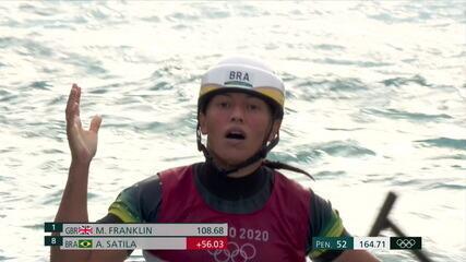 Ana Sátila perde uma porta e fica longe da medalha na final do c1 na canoagem slalom
