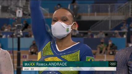 Rebeca Andrade conquista medalha de prata histórica na ginástica