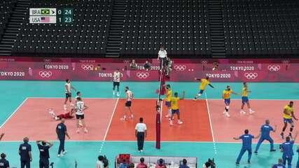O Brasil fecha o segundo set por 25 a 23