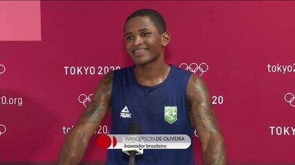 Wanderson fala sobre classificação para as quartas de final no boxe - Olimpíadas de Tóquio