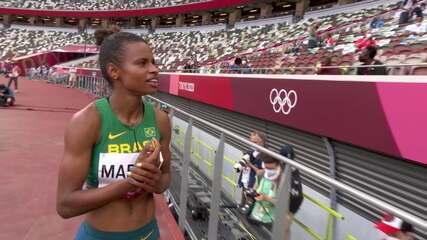 Eliane Martins atinge a marca de 6.38 e fica em 17º lugar - Olimpíadas de Tóquio