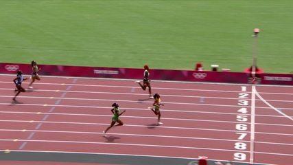 Ana Carolina Azevedo faz melhor tempo da temporada e fica na quinta posição em bateria dos 200m rasos - Olimpíadas de Tóquio
