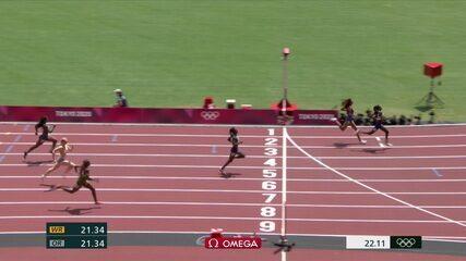 Vitória Cristina Rosa fica em sexto em bateria dos 200m - Olimpíadas de Tóquio