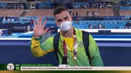 """Em 8° no salto, Caio Souza finaliza a participação com gratidão: """"Muito feliz com a minha primeira olimpíada"""""""