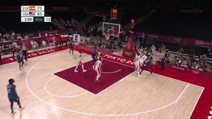 Melhores momentos: Espanha 81 x 95 EUA pelas quartas do basquete masculino nas Olimpíadas de Tóquio