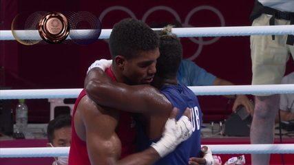 Abner Teixeira perde na semifinal do peso pesado e fica com o bronze - Olimpíadas de Tóquio