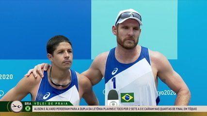Alison e Álvaro comentam a derrota contra a Letônia e a participação nos jogos - Olimpíadas de Tóquio